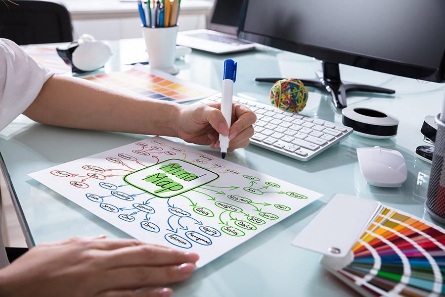 """Que es un mapa mental o """"mind map"""" y cómo hacer uno para tener ideas creativas."""