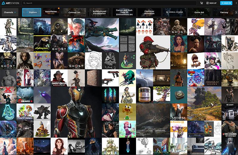 Artistation es un portafolio online para mostrar tu talento en diseño 3D y pintura digital.