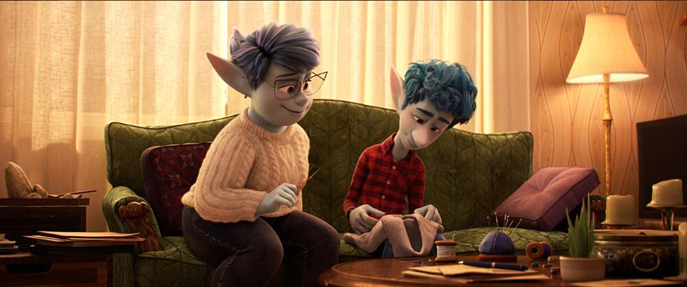 Fotograma render de la pelicula 3D Onward de Pixar