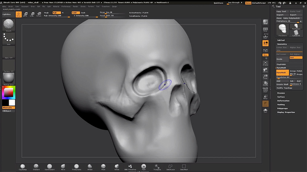 Programas de escultura digital 3D Pixologic Zbrush.