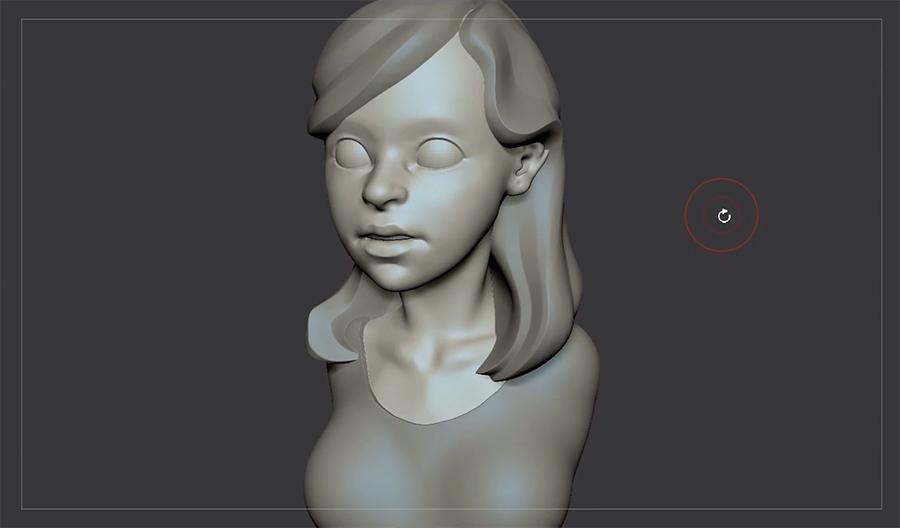 Personaje realizado modelando con escultura 3D.