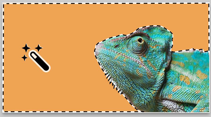 Herramienta de selección de Adobe Photoshop varita mágica.