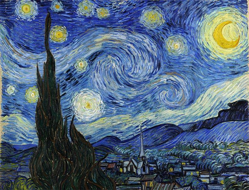 Corriente artística impresionismo. Vincent van Gogh, Noche estrellada.